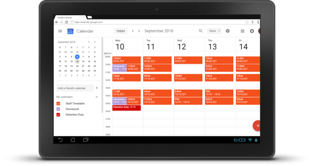 Google-Calendar-Staff-Tablet